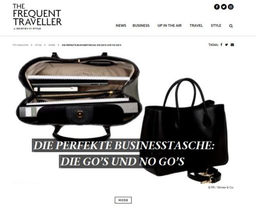 The Frequent Traveller - Die perfekte Businesstasche