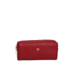beauty case-leather-red
