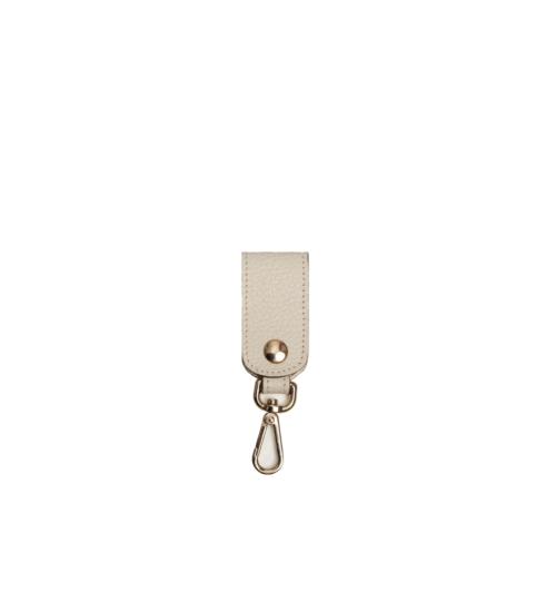 key chain-leather-beige