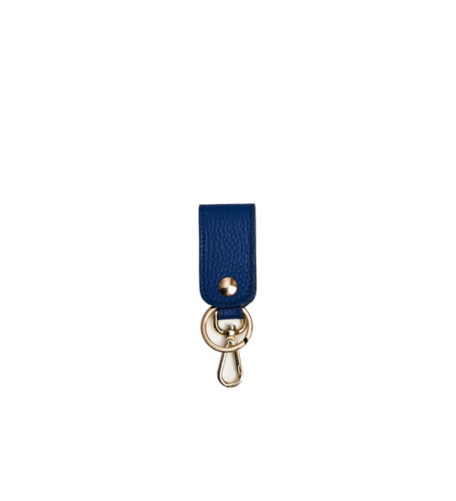 key chain-leahter-blue