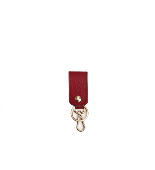 key chain-leather-red